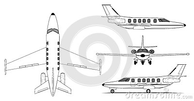 Private jet airplane