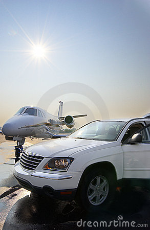 Private Jet and Car Rental