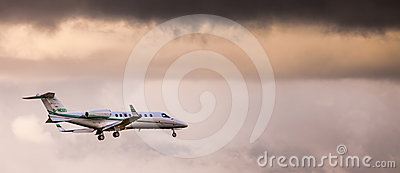 Private Jet Plane Editorial Photo
