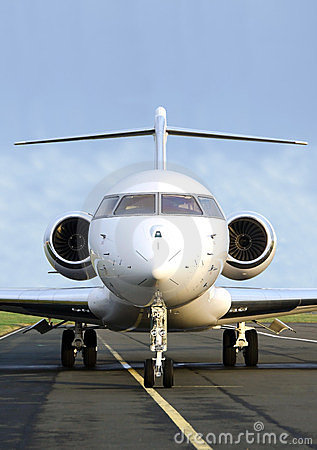 Free Private Jet Plane Front View - Bombardier Stock Images - 23871624