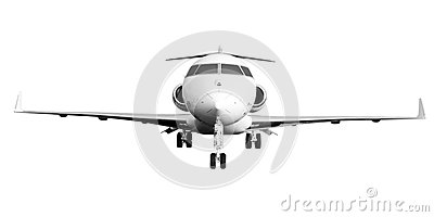 Private Jet Plane Isolated on White