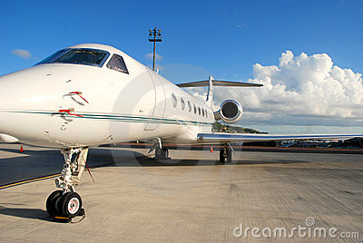 private jet ready for flight