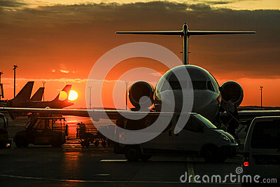 Private Jet Stock Photo  Image 52276583