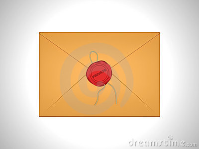 Private Letter sealed with red sealing wax