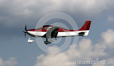 private  plane flying