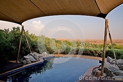 Private pool in the desert