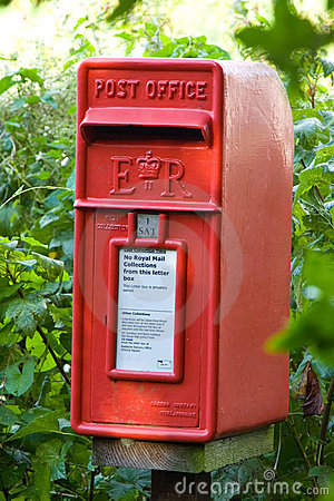 Private Post Box Editorial Stock Image