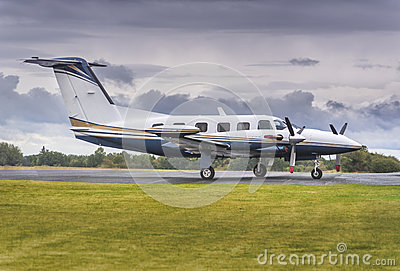 Private propeller airplane