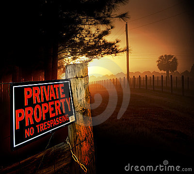 Free Private Property Entrance Stock Images - 6534424