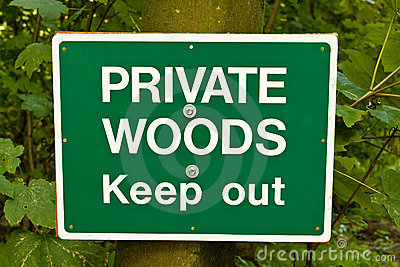 Private Woods Sign