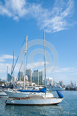 Private yatchs in San Diego bay Editorial Photography