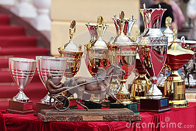 Prize of the Orlovsky Trotter horse breeding Editorial Image