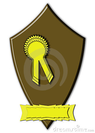 Prize ribbon rosette