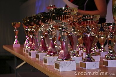 Prizes on reward ceremony