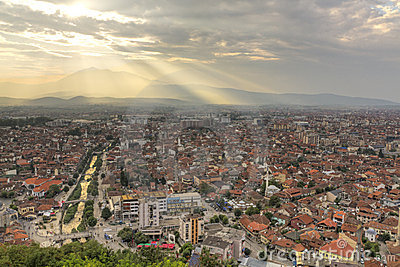 Prizren at sunset