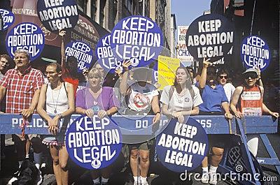 Pro-choice rally Editorial Stock Image