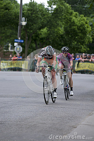 Pro Cyclists Battle at Uptown Criterium Editorial Image