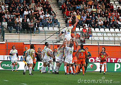 Pro D2 rugby match RCNM vs Stade Montois Editorial Photo