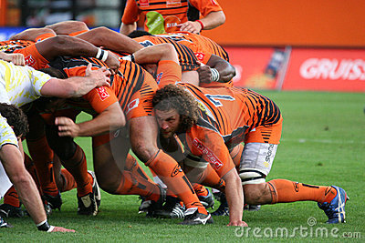 Pro D2 rugby match RCNM vs Stade Montois Editorial Photography