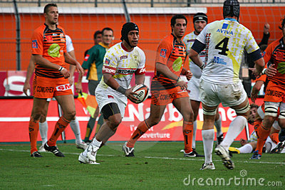 Pro D2 rugby match RCNM vs Stade Montois Editorial Stock Photo
