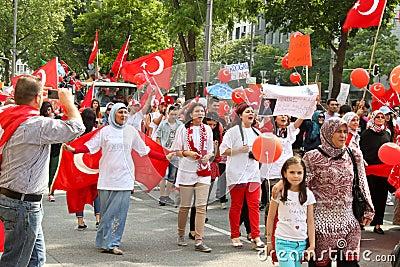 pro erdogan demonstration in munich germany editorial stock image image 32447029. Black Bedroom Furniture Sets. Home Design Ideas