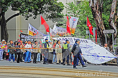 Pro-government rally in hong kong Editorial Stock Photo