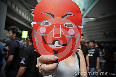 Pro-Government  Red Shirt  Protest in Bangkok Editorial Photo