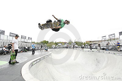 Pro skater at Dew Tour Editorial Stock Photo