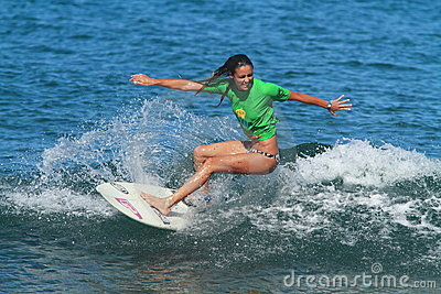 Pro surfer Amy Murphree Editorial Stock Photo