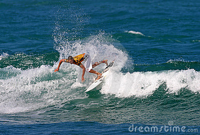 Pro Surfer Andy Irons in Surfing Competition Editorial Image