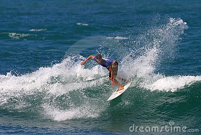 Pro Surfer Bruce Irons in Surfing Competition Editorial Photography