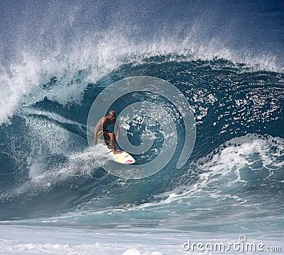 Free Pro Surfer Fred Patacchia Stock Image - 4247511