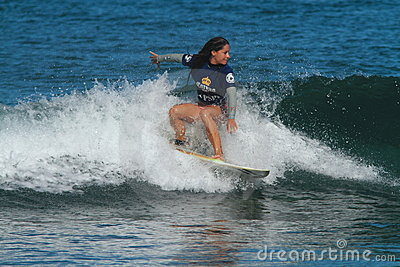 Pro surfer Maria Kuzmonich Editorial Stock Image