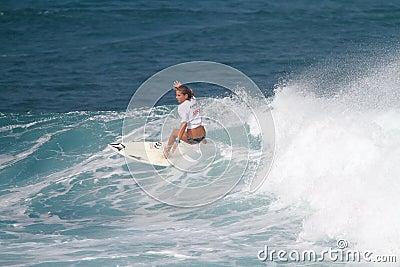 Pro surfer Quincy Davis Editorial Photo