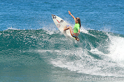 Pro surfer Quincy Jones Editorial Stock Photo