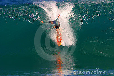 Pro Surfer, Ross Williams Surfing at Backdoor Editorial Image