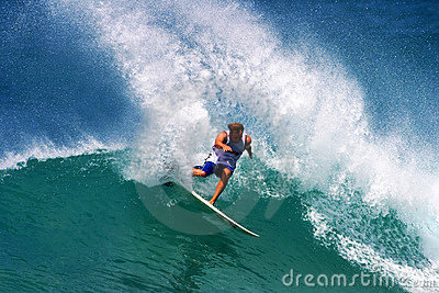 Pro Surfer Ross Williams Surfing in Hawaii Editorial Image