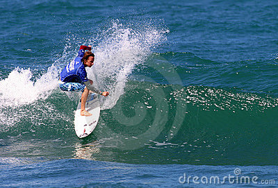 Pro Surfer Tim Curran in Competition Editorial Image