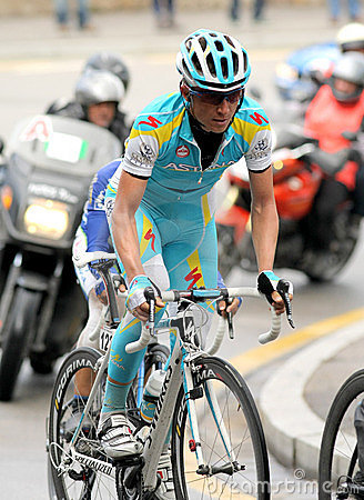 Pro Team Astana s cyclist Russian Evgeni Petrov Editorial Stock Image
