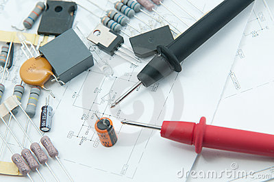 Probes of Multi-Meter for check Capacitor.