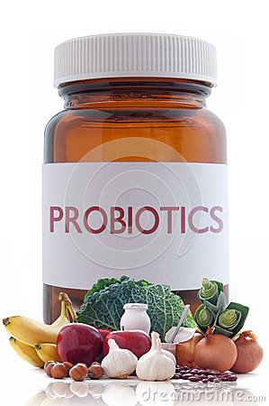 Probiotic pills concept