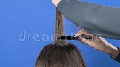 Process Of Making The Bouffant By Hairdresser Hair Stylist Makes