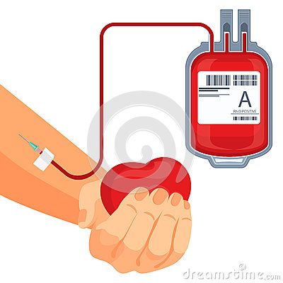 Free Process Of Blood Donation Human Hand And Plastic Bag Stock Images - 92285324