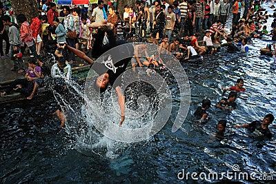 Procession Padosan Editorial Image