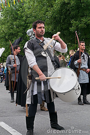 Procession at  Villacher Kirchtag  Editorial Stock Image