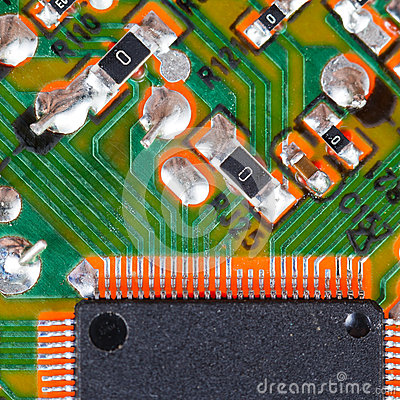 Processor circuit board macro shot
