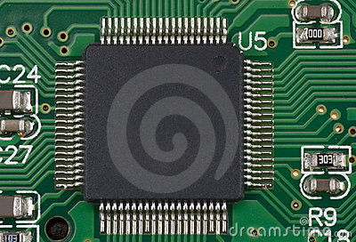 Processor on green board
