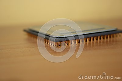 Processor on table
