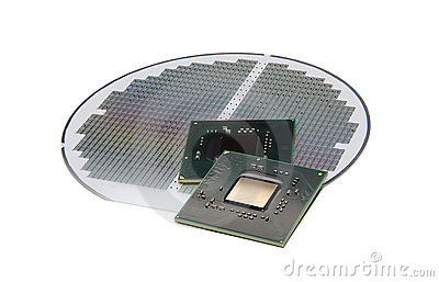 Processors on silicon wafer