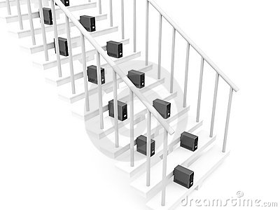 Processors on stairs
